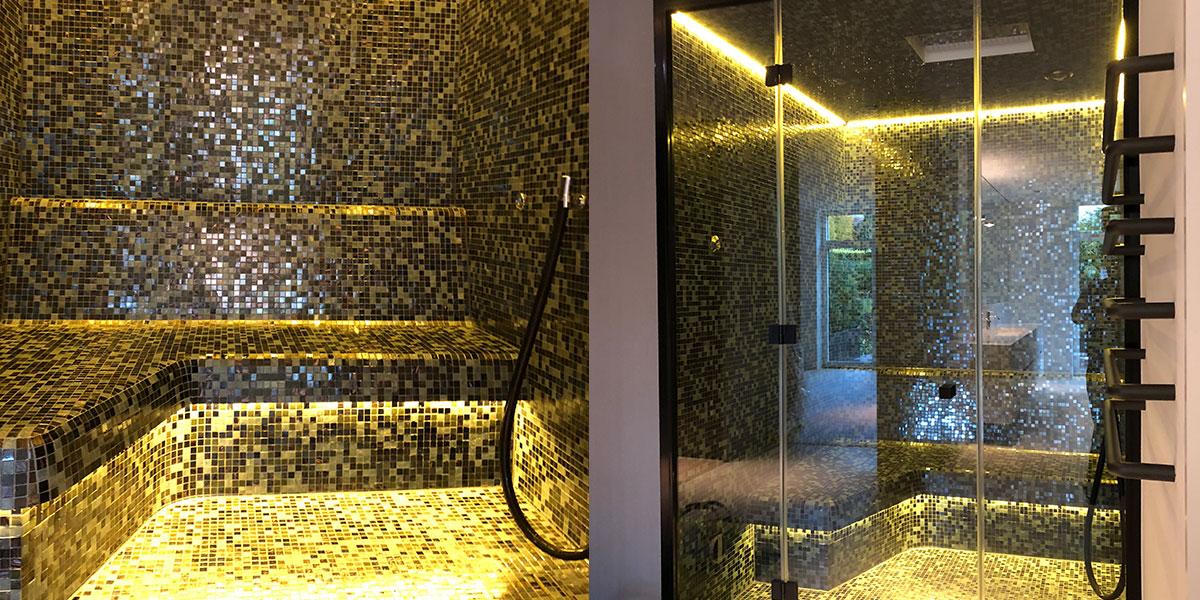 kompakte dampfdusche f rs bad sauna wellness kontor. Black Bedroom Furniture Sets. Home Design Ideas